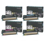 New Genuine Lexmark C746H1KG, C746A1CG, C746A1MG, C746A1YG High Yield Multipack Color Set Cartridges