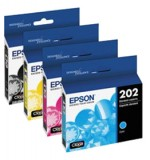 Genuine Epson 202XL Ink Cartridge Combo High Yield Bk/C/M/Y