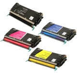 Compatible Lexmark C734A2KG, C734A1CG, C734A1MG, C734A1YG Multipack Color Sets Toner Cartridges