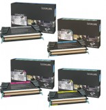 New Genuine Lexmark C734A2KG, C734A1CG, C734A1MG, C734A1YG Multipack Color Sets High Yield Toner Cartridges