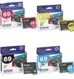 Genuine Epson (T069120) Black, (T069220) Cyan, (T069320)Magenta, (T069420)Yellow Ink Cartridge