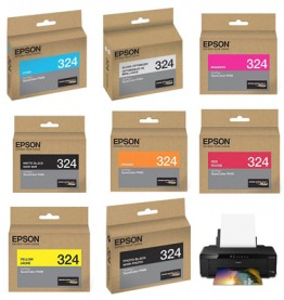 Epson Surecolor P400 Wide Format, 324 Series Ink Color Cartridges