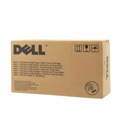 Genuine Dell 7H53W (330-9523) Black High Yield Toner Cartridge 2,500 pg yield For Dell 1130 1133 1135n
