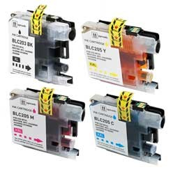 Brother LC207BK , LC205C, LC205Y, LC205M Compatible