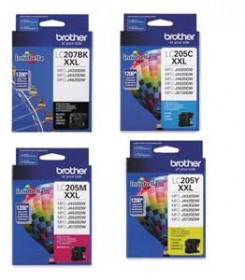 Brother LC207BK , LC205C, LC205Y, LC205M OEM
