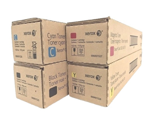 Genuine Xerox 6R1525, 6R1526, 6R1527, 6R1528 CYMK Toner Cartridges Set